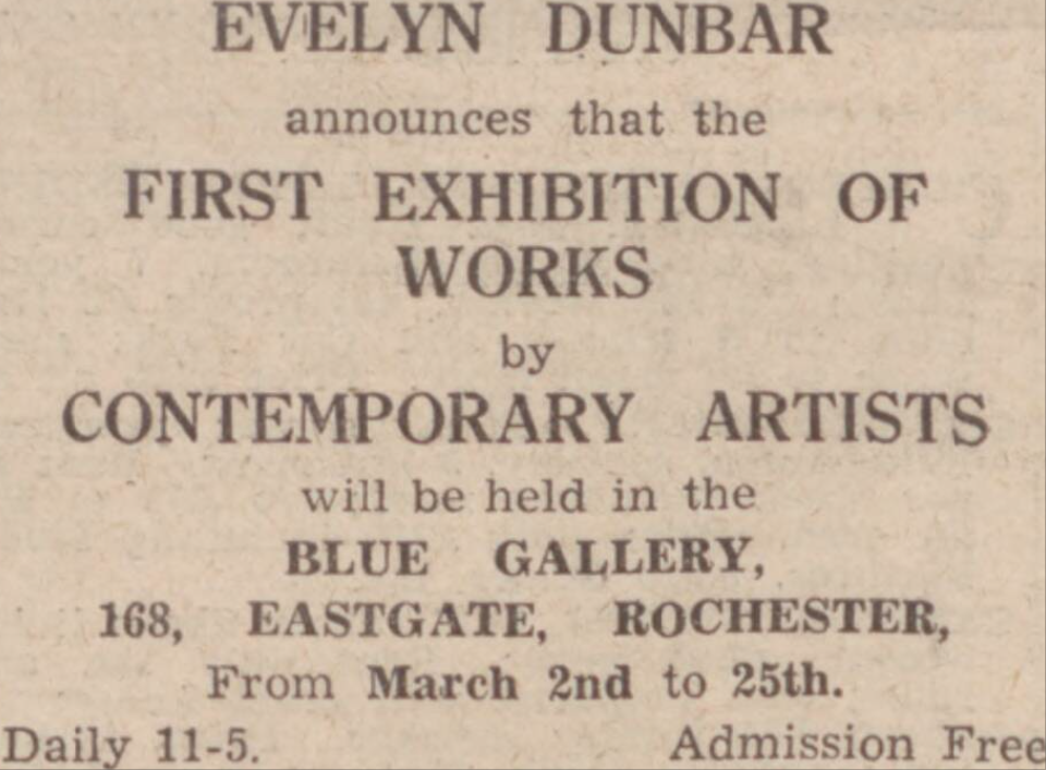 ED Advert for Blue Gallery