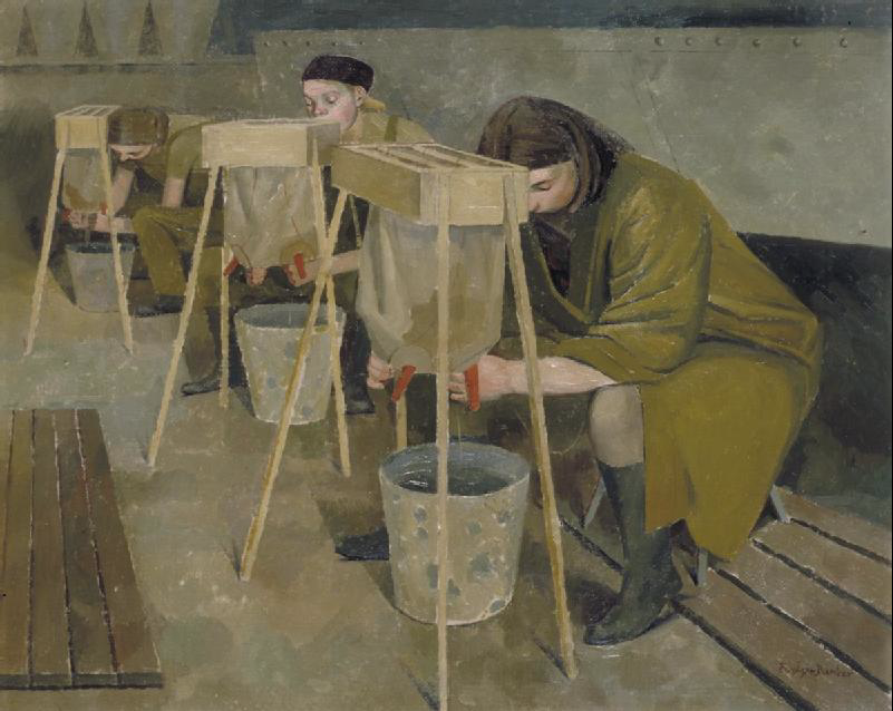 Milking Practice with Artificial Udders. (Art.IWM ART LD 766)