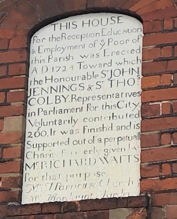 St Margs plaque