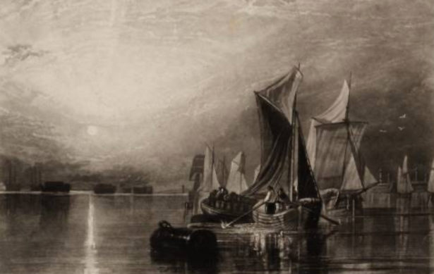 'Stangate Creek, on the River Medway', after Joseph Mallord William Turner, 1827 Tate