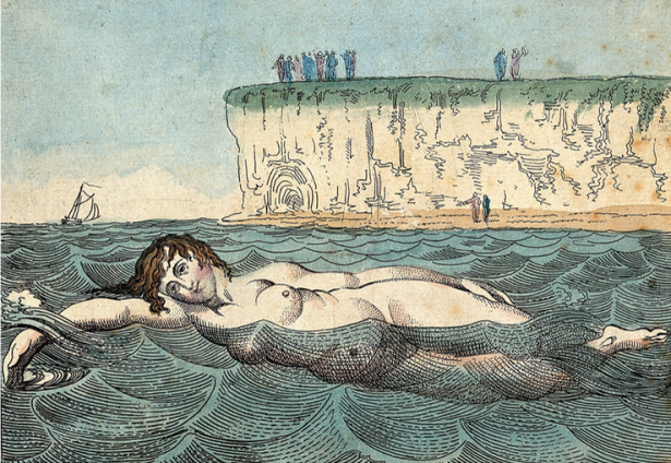 Woman swimming at Margate
