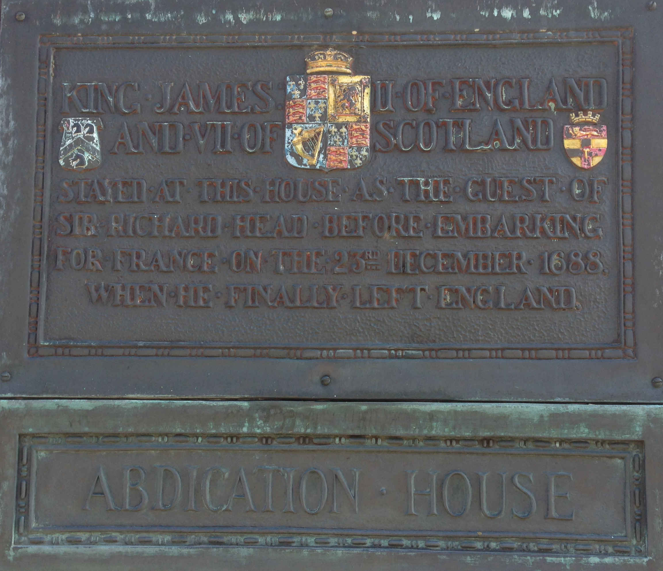 Abdication House Plaque