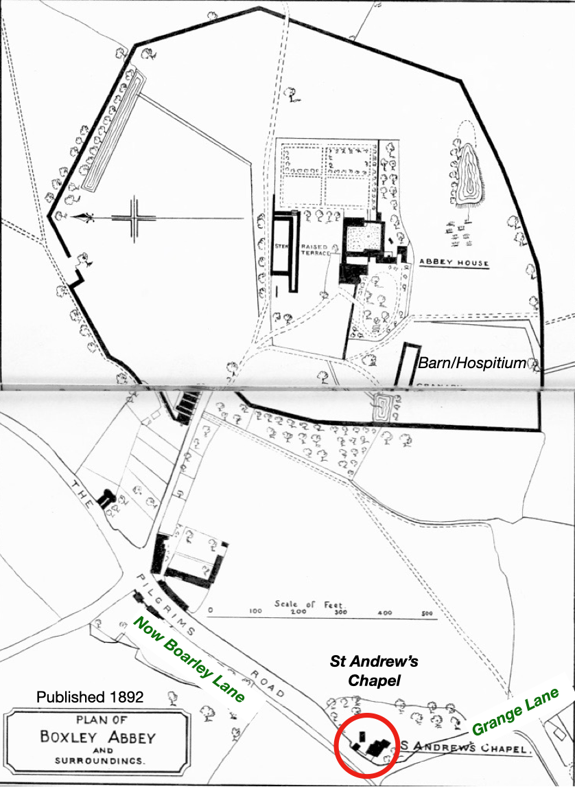 Plan Boxley Abbey and surrounds